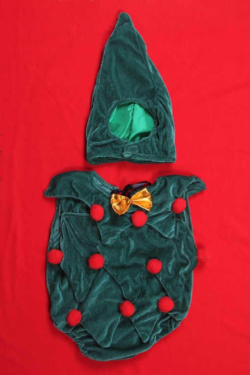 Bebê recém-nascido roupas árvore de natal cosplay roupas da menina do bebê menino macacão crianças traje para meninas 0-6 mês