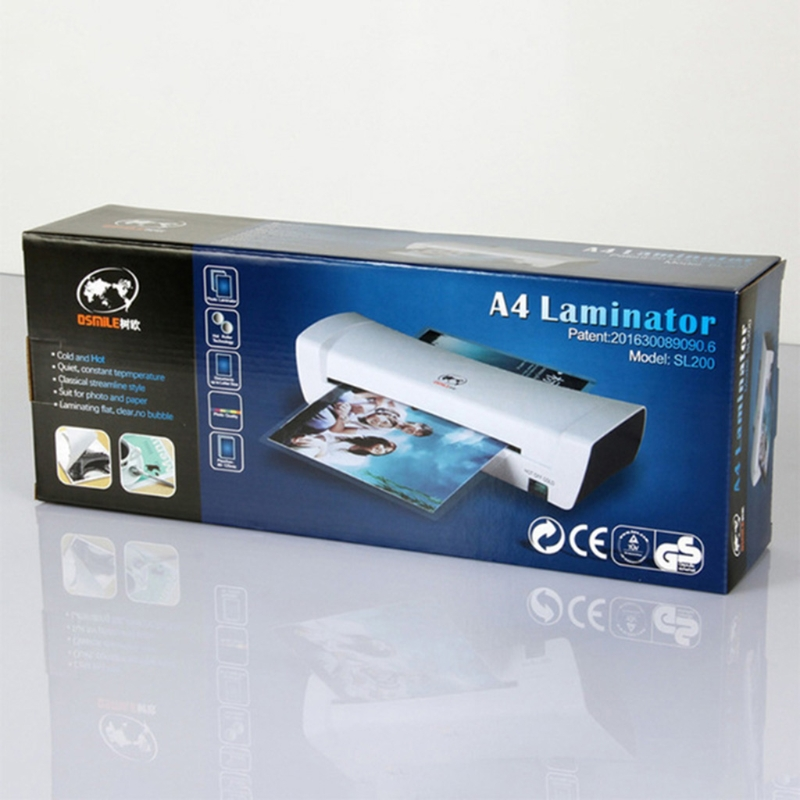 A4 Film Roll Laminator Hot and Cold Mode Available for Home Office A4/A5/A6 Document Photo Files Cards 2min Preheating