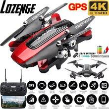 Дрон lozenge hj38 pro складной с камерой 4k hd 1080p wifi +