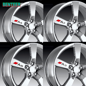 4pcs Car rim sticker for Audi A3 A4 A5 A6 A7 A8 TT Q3 Q5 Q7 Q8 A1 B5 B6 B7 B8 B9 8P 8V 8L C6 C5 C7 4F