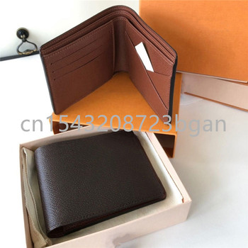 Hot Selling Classic Men/Women Short Wallet Luxury Brand Design MULTlPLE Coin Purse Business Fashion Folding Pocketbook With Box 1