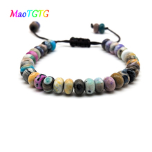 2019 Fashionable Natural Agates Abacus Shape Men Bracelet And Women Bracelet Intented For Your Lover Gifts цена в Москве и Питере