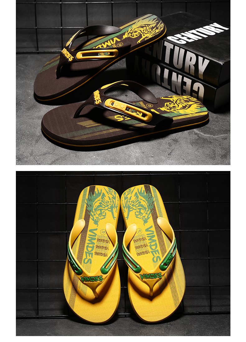 Hb82723248eb04325b5ac064b88935800i - VESONAL Summer Graffiti Print Slippers Men Shoes Flip Flops Slipers Male Hip Hop Street Beach Slipers Casual Flip-flops