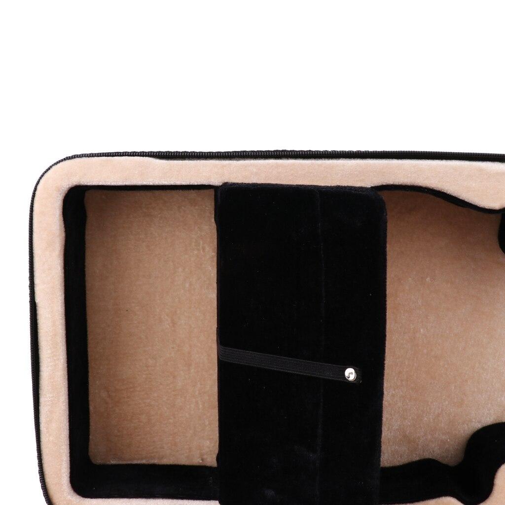 Enhanced Foam Violin Case Box Built-in Hygrometer For 4/4 Violin Parts Black