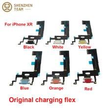 SZteam 1 pçs/lote XR ORIGINAIS de carregamento flex para iPhone 5 carregador flex original puxado Original Carregamento Porto Flex Cable