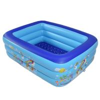 Children Bathing Tub Baby Home Use Paddling Pool Inflatable Square Swimming Pool Kids Inflatable Pool Freeshipping