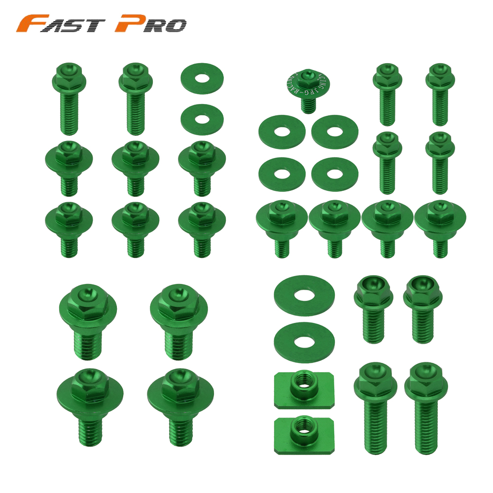 Motocycle Dirt Bike Plastic Body <font><b>Parts</b></font> Bolt Screws For Kawasaki Suzuki KX125 KX250 KX250F KX450F RMZ250 <font><b>KX</b></font> <font><b>125</b></font> 250 250F 450F image