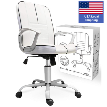 office executive chair ergonomic Leather computer game Chair Internet chair for cafe household chair White 1