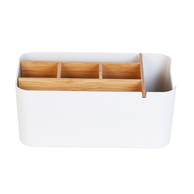 Desk Organizer Multifunction Office Supplies Storage Box Remote Control Holder Bedside Living Room Decor