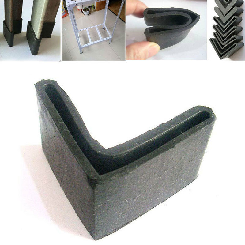 8PCS Triangle Rubber Covers Anti Scratch Furniture Shelf Table Chair Feet Leg Floor Protector Caps Angle Iron End Cap