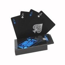 Качественные пластиковые ПВХ покер водонепроницаемые черные игральные карты креативный подарок прочный покер
