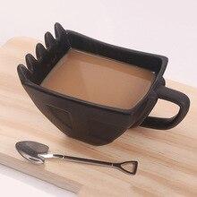 280 мл экскаватор креативная ложка кружка ведро модель керамическая кружка сигара виски пепельница кофе чай чашка лучший подарок для ребенка