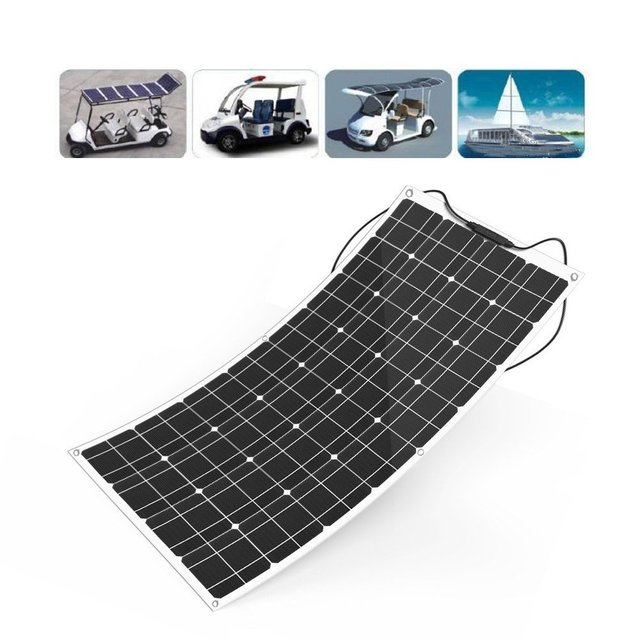 High Efficient Waterproof Monocrystalline Adhesive Thin Film solar panel 100W solar cell solar charge