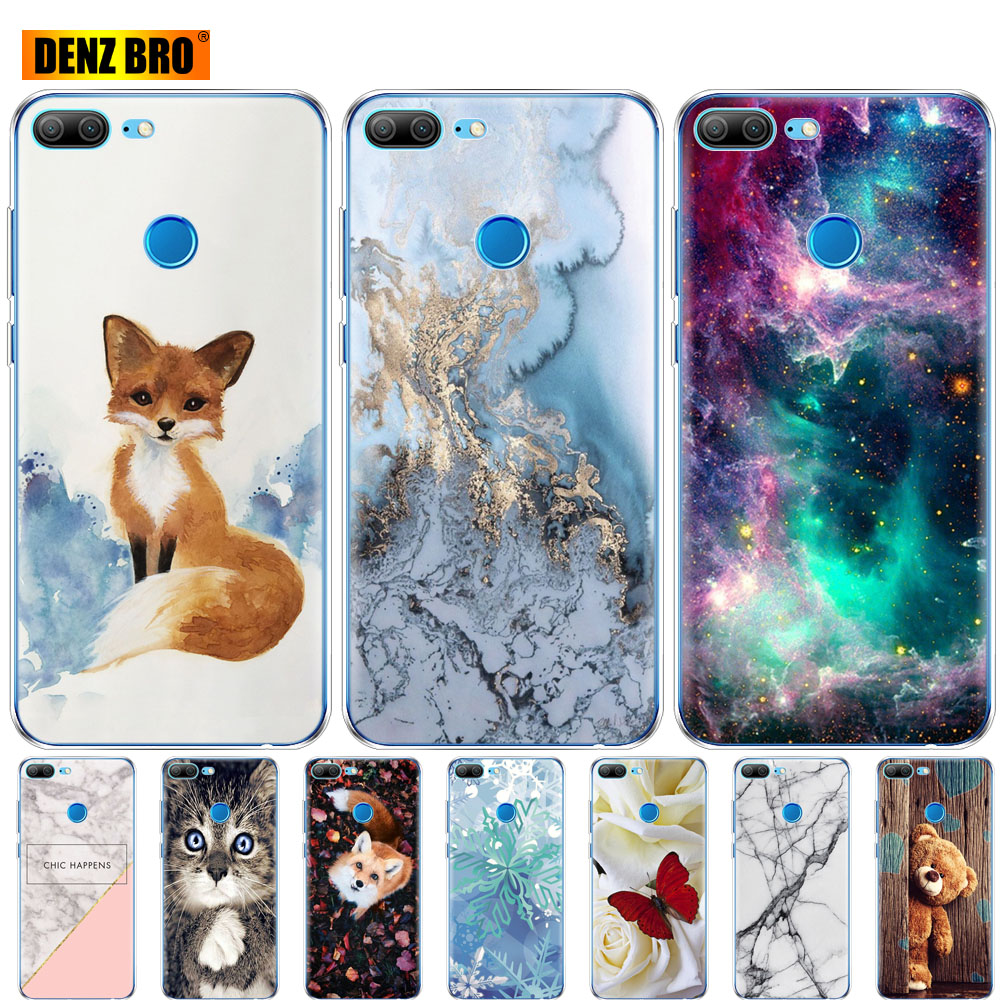 Soft Silicone Case For Huawei Honor 9 Honor 9 Lite Phone Cases Soft TPU Back Cover Full 360 Protective