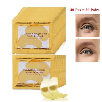 InniCare 40pcs Beauty Gold Crystal Collagen Patches For Eye Moisture Anti-Aging Acne Eye Mask Korean Cosmetics Skin Care 1