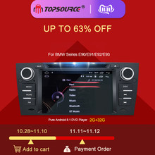 TOPSOURCE Android 8,1 coche Multimedia Player 1 Din DVD GPS para BMW serie E90/E91/E92/E93 reproductor de DVD, Radio FM(China)