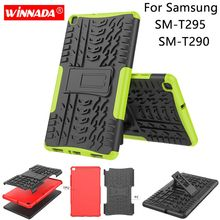For Samsung T295 case 8.0 inch T290 Tablet armor case Silicone TPU+PC patchwork Shockproof Stand dazzle Cover for Samsung galaxy Tab A 8.0 2019 T290 case