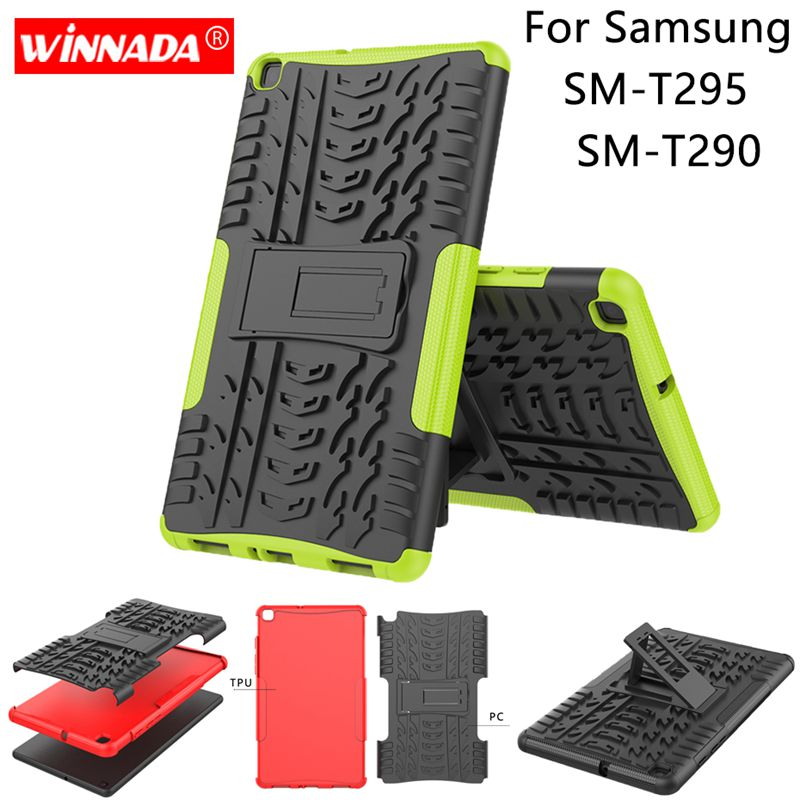For Samsung T295 Case T290 Tablet Armor Case Silicone TPU+PC Shockproof Stand Cover For Samsung Galaxy Tab A 8.0 2019 T290 Case