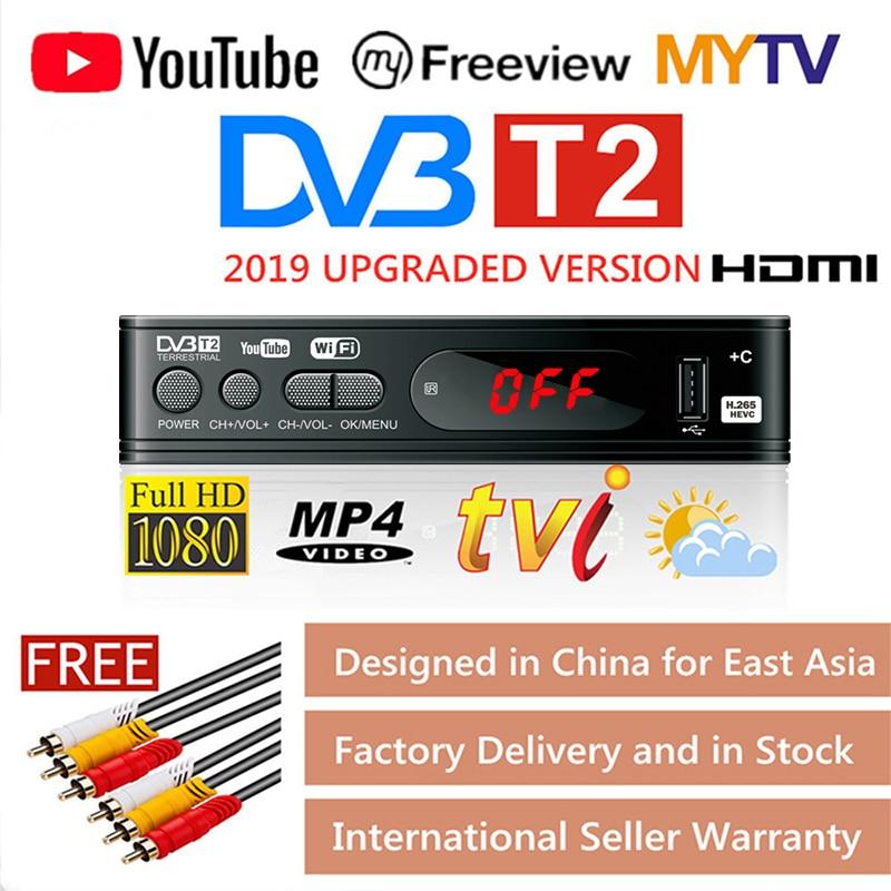 DVB-T2 TV Tuner Vga TV Box DVB T2 For Digital TV Receptor Wifi Receiver DVBT2 DVB-C Set-top Box H.265 HEVC AC3 HD DVB C Tuner