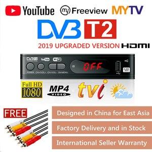 Image 1 - DVB T2 TV Tuner Vga TV Box DVB T2 for Digital TV Receptor Wifi Receiver DVBT2 DVB C Set top Box H.265 HEVC AC3 HD DVB C Tuner