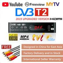 DVB T2 caixa da tevê de vga do sintonizador dvb t2 para o receptor da tevê digital receptor wi fi dvbt2 DVB C conjunto caixa superior h.265 hevc ac3 hd dvb c tuner