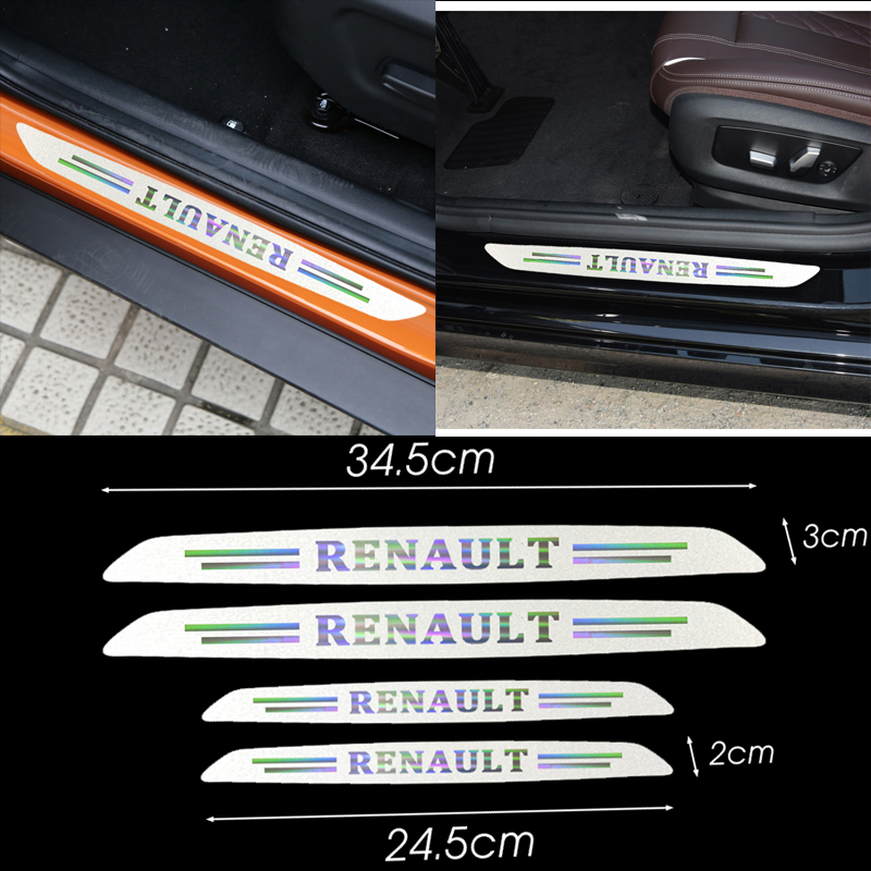 Car  Door Decoration Reflective Stickers Auto Scratch Protector For Renault Megane 2 3 Duster Logan Clio Laguna 2 Car Styling