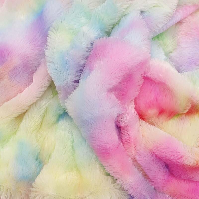 Тай-дай Стиль Радуга Цвет плюшевая ткань для Аксессуары для ванной комнаты материалов набор «сделай сам» для детей куклы KA85-TJ1710
