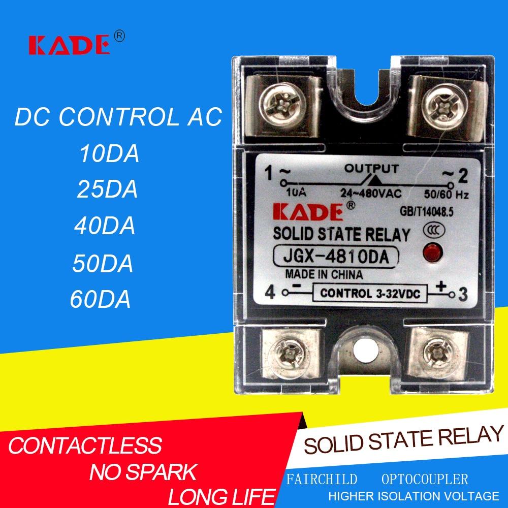 Jgx/SSR 10 DA / 25da / 40da / 60da DC контролируется AC SSR Однофазное твердотельное реле с пластиковым пылезащитным покрытием Реле      АлиЭкспресс