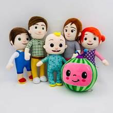 6pcs/set Cocomelon Plush Toy Baby Cocomelon JJ Family Stuffed Dolls 20cm/33cm For Kids Christmas gift