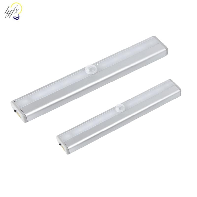 Wireless 6/10/20 LED PIR LED Motion Sensor Light Closet Stairs Kitchen Under Cabinet Night Light USB / Battery Lighting Bed Lamp
