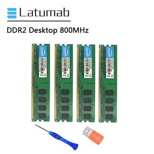 Latumab 2 ГБ 4 ГБ DDR2 800 МГц PC2 6400 настольная память Dimm память 240 контактов 1,8 в Настольный ПК Память Ram Модуль памяти