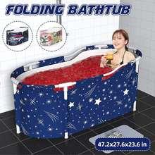 1.2m przenośna składana wanna podwójne wanny domowe składane duże pełne ciało wanna do kąpieli dzieci wanna Home Winter Tub