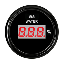 Car Boat Water Tank Level Indicator 52mm Digital Water Level Meter LCD Display Liquid Gauge For Truck Yacht Auto Red Backlight
