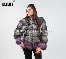 Autumn and Winter London Instar Star blogger luxury real Fox Fur coats outerwear For Women