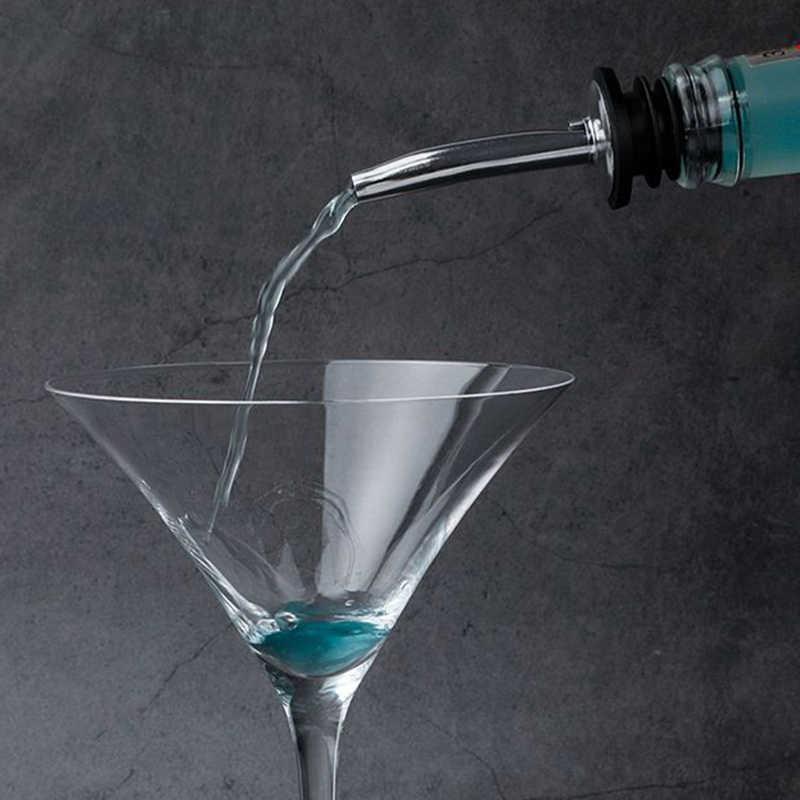 2 Pcs Hot Rvs Wijn Olijfolie Schenker Schenktuit Glazen Fles Schenker Zwart Hq