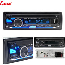 Car Radio Stereo Player Bluetooth + Microphone Phone AUX-IN MP3 FM/USB/1 Din/remote control 12V Car Audio Auto Sale New(China)