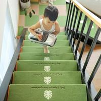 5PCS 70*22*4.5CM Stair Mat Stepping Floor Mat Step Stickers Luminous Non Slip Glue Free Self Adhesive PVC Staircase Sticker