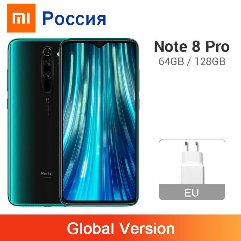 Глобальная версия Xiaomi Redmi Note 8 Pro 6 ГБ 128 ГБ/64 Гб 64 мп четыре камеры смартфон NFC 4500 мАч Helio G90T Восьмиядерный