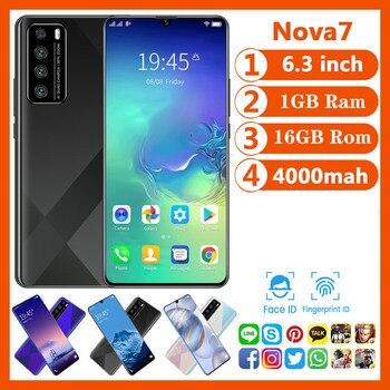 Cheapest Smart Phone CECTDIGI Nova 7 Android 6.0 1GB RAM 16GB ROM 6.3 Inch Big Screen Smartphone Unlocked Dual Sim Mobile Phone