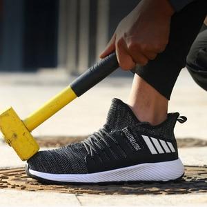 Image 1 - 超軽量安全靴男性女性鋼つま先ハイキング靴作業溶接の靴