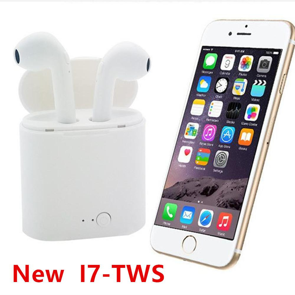 Bluetooth Earphone With Mic Charging Pods I7s Tws Air Wireless Headphones Headsets Stereo In-Ear For Ios Android Phone Handsfree