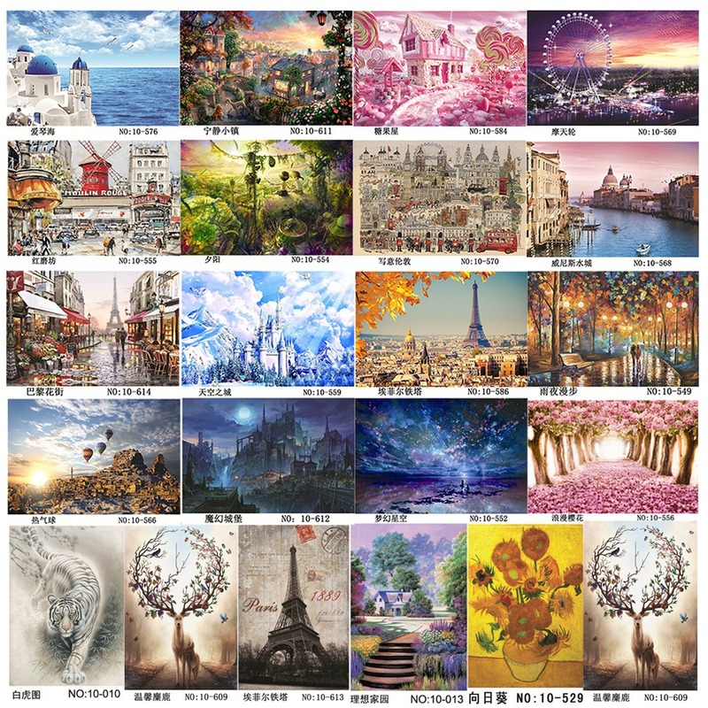 1000 Pcs Puzzles Paper Anime And Landscape  Puzzles Toys For Adults And Children Kids Games Educational Toys