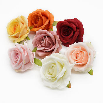 100PCS Christmas Festival Supplies High quality rose fake flowers wedding decorative flowers wall bridal accessories clearance
