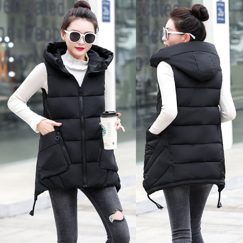 2020 Autumn And Winter Women Vest Thick New Student Cotton Coats Plus Size 5XL Lady Clothing Warm