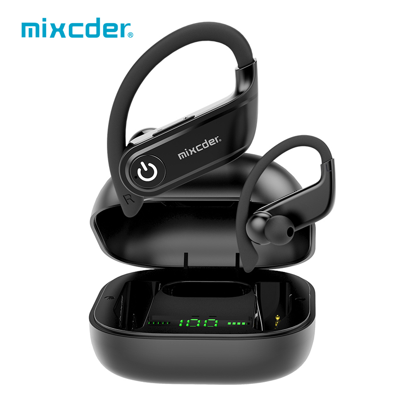 Mixcder T2 Wireless Earphones Bluetooth Earbuds <font><b>TWS</b></font> Sports True Wireless Headphones With Microphone Earhook Bluetooth 5.0 Bass image
