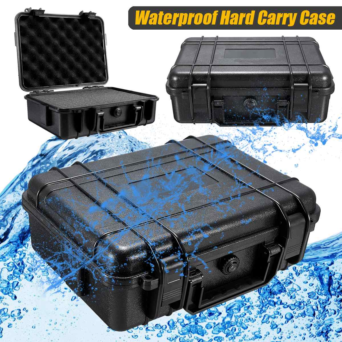 5 Sizes Waterproof Hard Carry Case Bag Tool Kits With Sponge Storage Box Safety Protector Organizer Hardware Toolbox