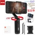 Zhiyun Smooth Q2 3-Axis смартфон ручной шарнирный стабилизатор для камеры GoPro, небольшой карман Размеры 360 градусов вращения для телефона 11 Pro Max S10 9