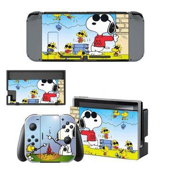 Cartoon PEANUTS Dog Nintendo Switch Skin Sticker NintendoSwitch stickers skins for Nintend Switch Console and Joy-Con Controller 1