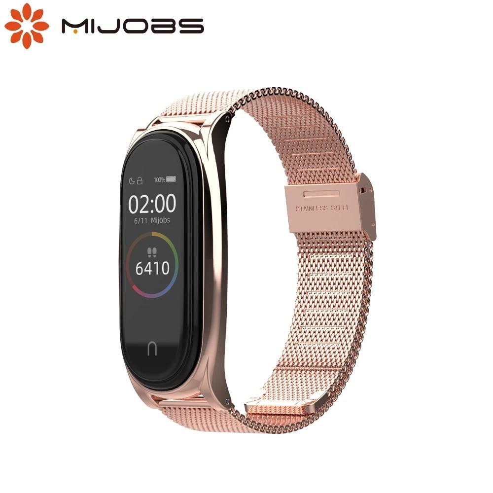 For Mi Band 6 Strap Metal Bracelet For Xiaomi Mi Band 5 Strap Wrist Belt Correa Miband 3 4 5 6 Smart Wristband Global Version Smart Accessories Aliexpress