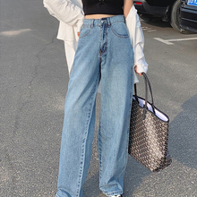 High Waisted Boyfriend Jeans For Women Blue Fashion Casual S